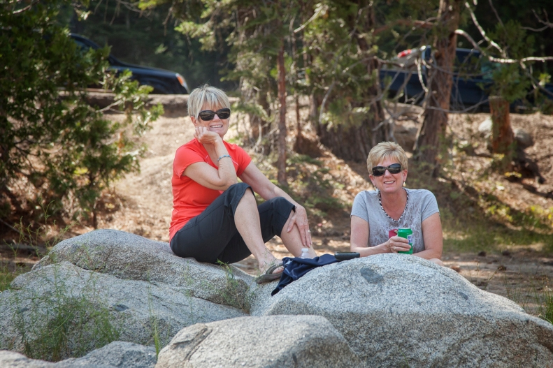 Hanging out at Shaver Lake before heading back to camp.