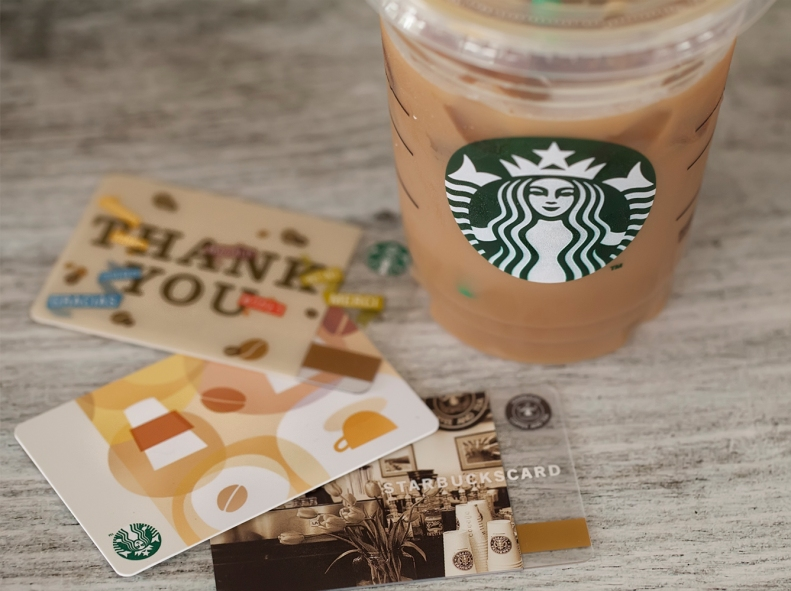 The last of my Starbucks cards.