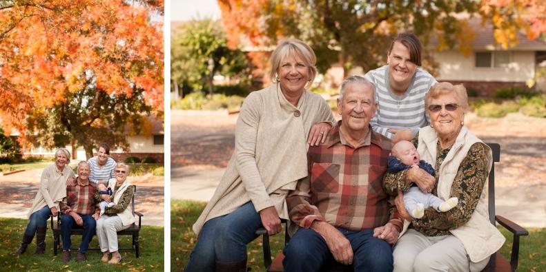 Mom and Dad, Joyce, Jennifer and Drew... four generations.