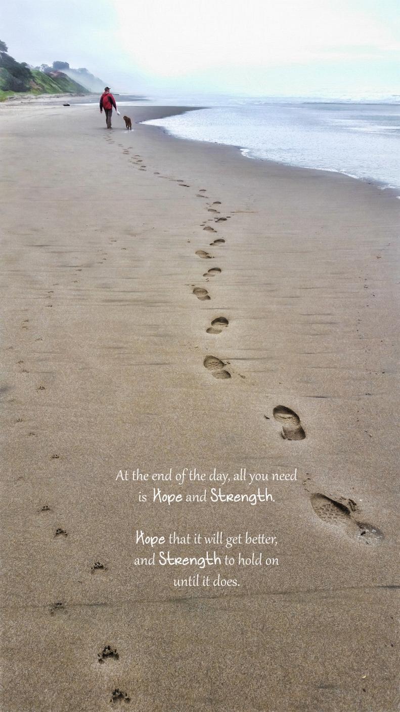 3-12-16 Beach w-quote