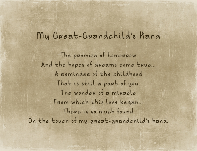 4-3-19 Great Grandchild Poem